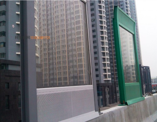 酒泉折角吸音隔音板-- 科亚酒泉声屏障生产厂家